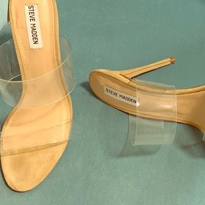 Steve Madden Charlee Clear Vinyl Heels